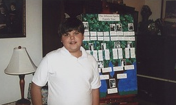 Our sister Amy Speltz Johnson's son Matthew  and his Family Tree school project!